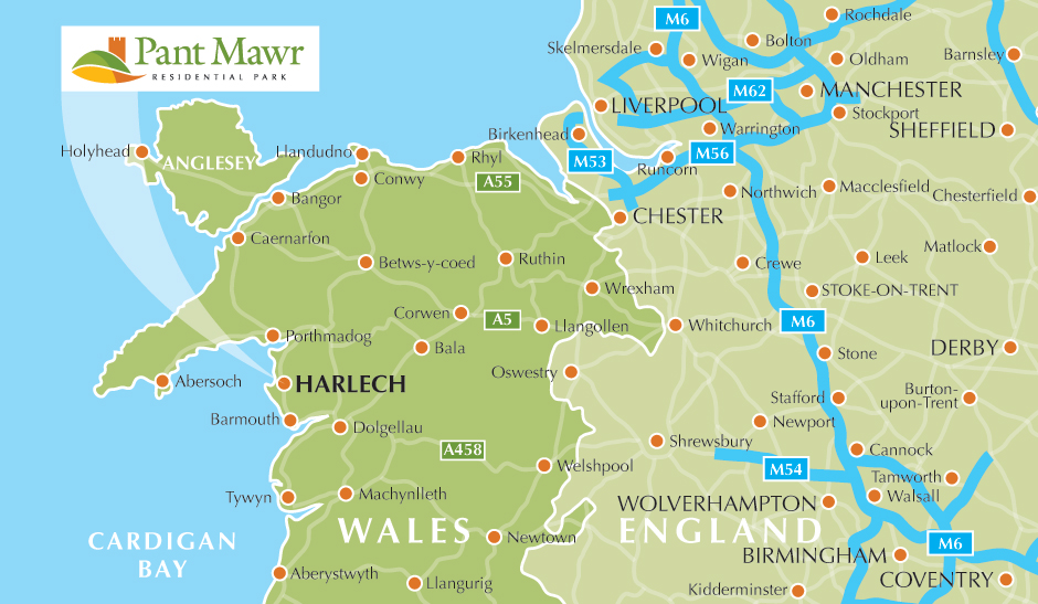 Pant Mawr Location Map
